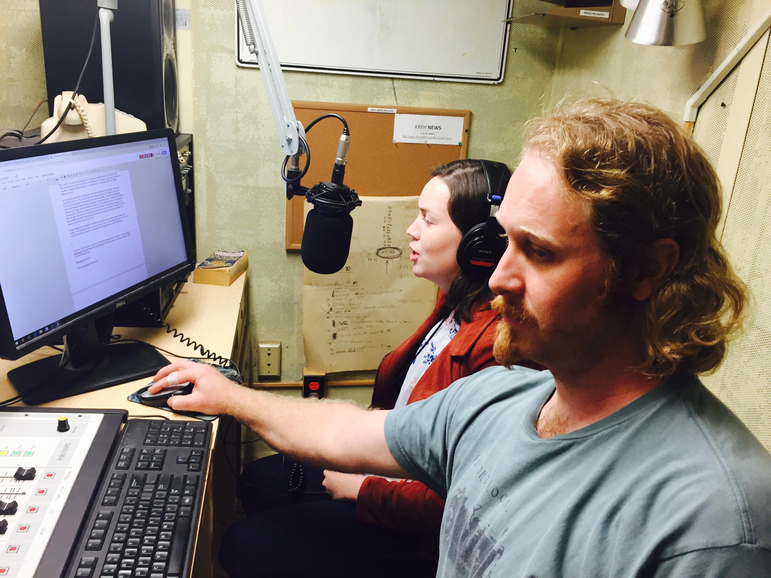 KRFH News team in action